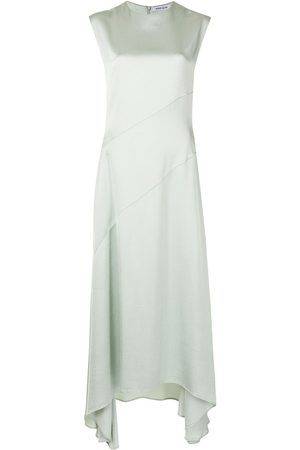 Anna Quan Women Asymmetrical Dresses - Vera asymmetric-hem satin dress