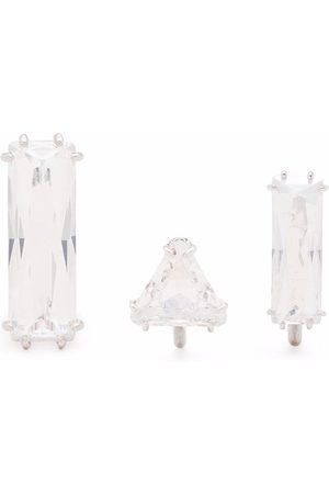Swarovski Women Earrings - Mesmera set of three clip earrings - Neutrals