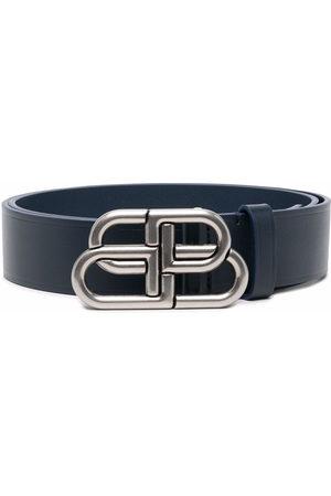 Balenciaga Logo-buckle leather belt