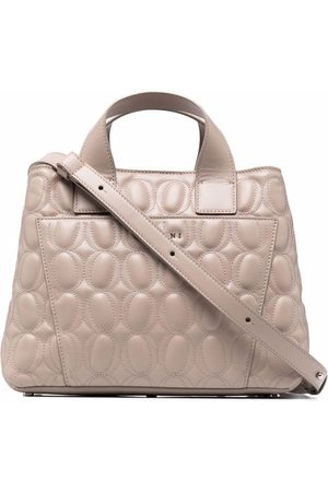 Orciani Nora embossed logo bag - Neutrals