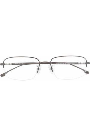 HUGO BOSS Rectangle-frame logo-emed glasses