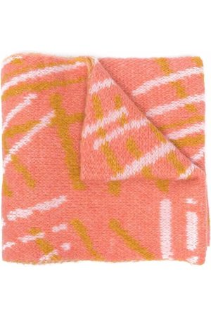 Bobo Choses Embroidered-logo knitted scarf