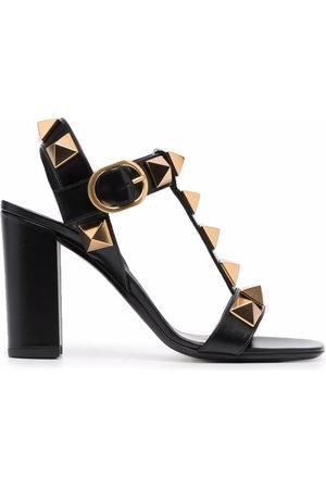 VALENTINO GARAVANI Women Heels - Roman Stud block-heel sandals