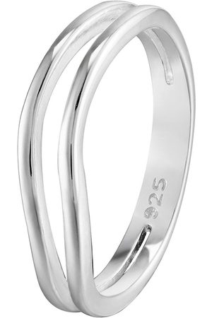 The Love Silver Collection Sterling Double Wave Ring