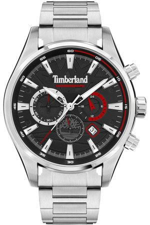 Timberland Aldridge Men'S Chronograph Watch With Stainless Steel Bracelet And Black Dial