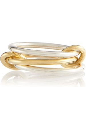 SPINELLI KILCOLLIN Solarium 18kt yellow gold and sterling linked rings