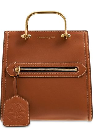 Alexander McQueen Women Shopper & Tote Bags - The Short Story Leather Tote Bag