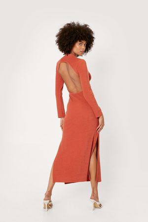 NASTY GAL Women Bodycon Dresses - Womens Recycled Backless Bodycon Midaxi Dress