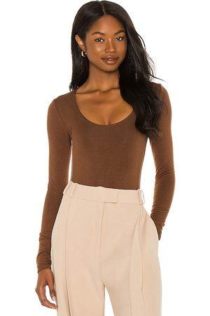RE ONA Scoop Neck Long Sleeve Bodysuit in . Size M, S, XS.