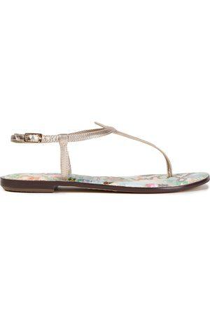 Sam Edelman Women Sandals - Woman Gigi Metallic Leather Sandals Rose Size 5.5