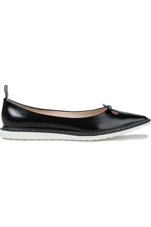 The Marc Jacobs Women Flat Shoes - Woman Cutout Polished Leather Point-toe Flats Size 35