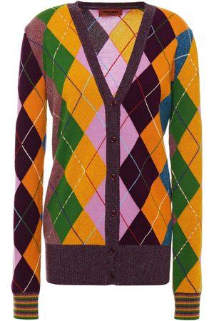 Missoni Women Cardigans - Woman Argyle Cashmere Cardigan Lilac Size 40