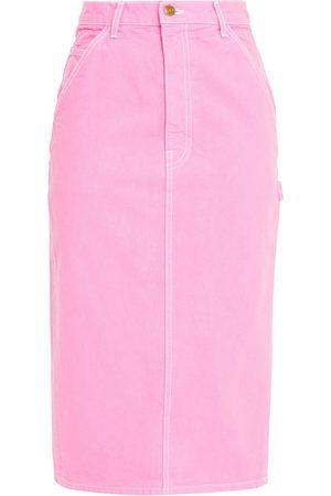 The Marc Jacobs Woman Denim Midi Skirt Bubblegum Size 27