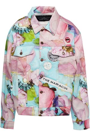 The Marc Jacobs Women Summer Jackets - Woman Embellished Printed Cotton-gabardine Jacket Baby Size L