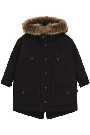 Dolce & Gabbana Parkas - Kids Cotton Fur Hooded Coat (8-12 Years)