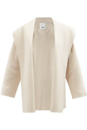 Allude Hooded Wool-blend Cape Jacket - Womens - Ivory