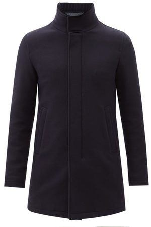 Herno Melton-wool Overcoat - Mens - Dark