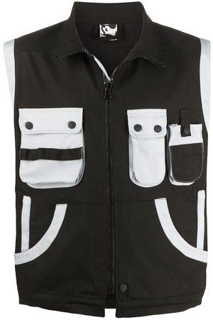 GR10K Men Body Warmers - Contrast pocket gilet