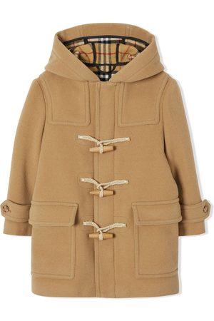 Burberry Kids Boys Duffle Coats - Double-faced wool duffle coat
