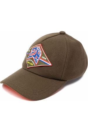 Balmain Men Hats - Logo-patch virgin wool-blend cap