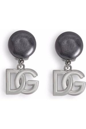 Dolce & Gabbana Men Earrings - DG logo clip-on earrings