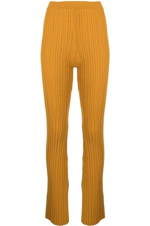 ADAM LIPPES Women Wide Leg Trousers - Cotton crepe flared trousers