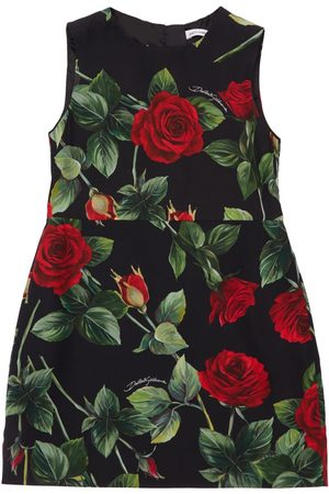Dolce & Gabbana Women Printed Dresses - Rose Print Sleeveless Viscose Dress