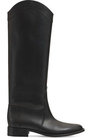 Saint Laurent Women High Leg Boots - 30mm Kate Leather Tall Boots