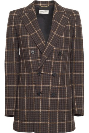 Saint Laurent Carrera Check Virgin Wool Jacket