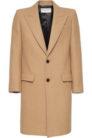Saint Laurent Single Breast Cashmere Coat