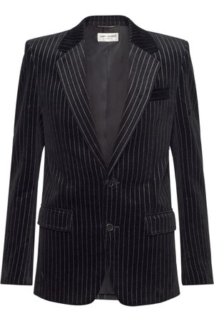 SAINT LAURENT Pinstripe Cotton Velvet Jacket