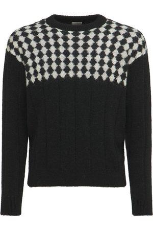 Saint Laurent Wool Blend Knit Sweater
