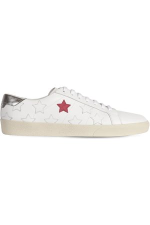 Saint Laurent Stars Leather Low Top Sneakers
