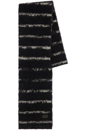 SAINT LAURENT Men Scarves - Striped Wool Blend Scarf