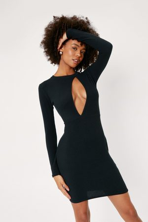 Nasty Gal Womens Recycled Cut Out Bodycon Mini Dress