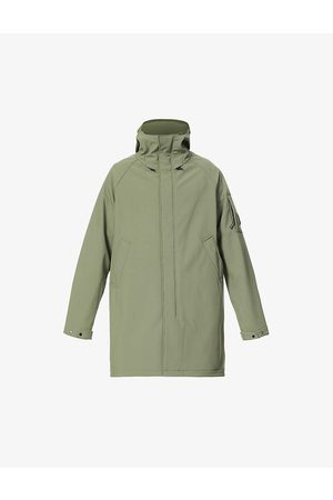 CP Company Men Parkas - Shell R brand-patch shell hooded parka coat