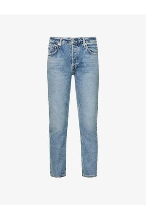 Citizens of Humanity Emerson cropped tapered mid-rise stretch-denim jeans
