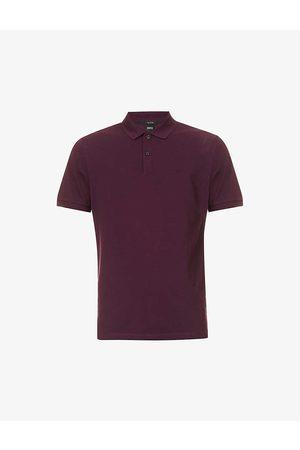 HUGO BOSS Logo-embroidered cotton-piqué polo shirt