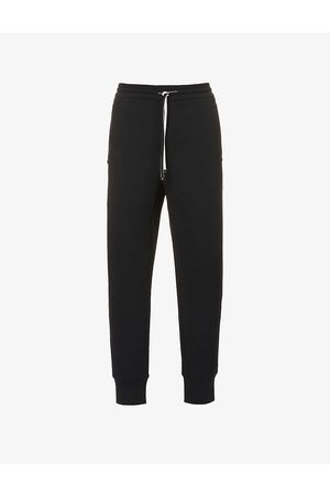 Emporio Armani Men Sports Trousers - Brand-badge cotton-blend jersey jogging bottoms