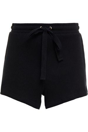 THE UPSIDE Women Sports Shorts - Woman Ezi Ribbed Cotton-jersey Shorts Size L