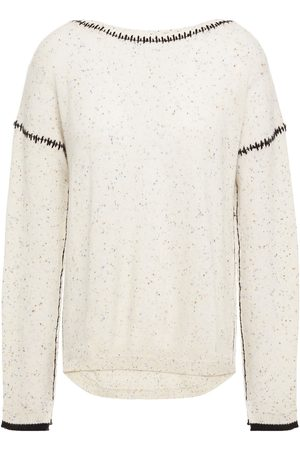 Charli Women Jumpers - Woman Amber Donegal Cashmere Sweater Ivory Size L