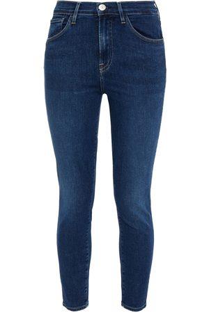 3X1 Woman Sophie Cropped Mid-rise Skinny Jeans Dark Denim Size 24