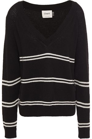 Charli Women Jumpers - Woman Chia Striped Ribbed Cashmere Sweater Size L