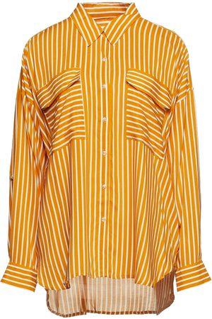 Seafolly Women Shirts - Woman Striped Woven Shirt Mustard Size L