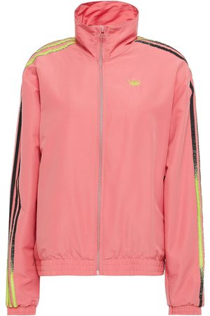 adidas Woman Striped Shell Track Jacket Antique Rose Size 30