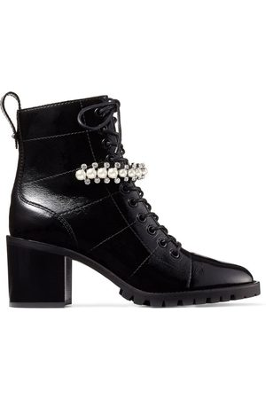 Jimmy Choo Women Boots - Cruz 65 Embellished Leather Boots