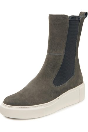Paul Green Women Ankle Boots - Platform ankle boots in nubuck cowhide size: 37