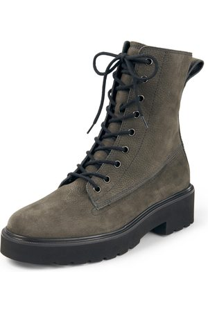 Paul Green Lace-up ankle boots in calf suede leather size: 35,5