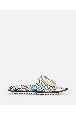 Fendi Men Sandals - FF VERTIGO RUBBER SLIDE SANDALS size 10