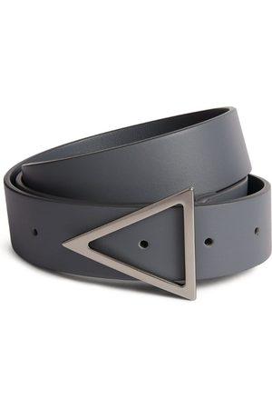 Bottega Veneta Men Belts - Leather Triangular Buckle Belt